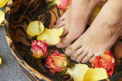 Voetenbad voetreflexologie