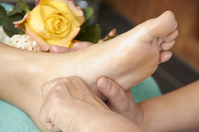 Greep voetreflextherapie